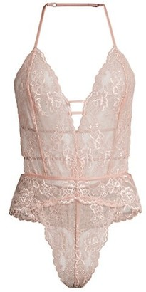 In Bloom Lace Thong Teddy