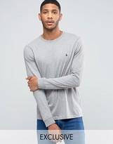 Jack Wills Dunsford Long Sleeved T-Shirt in Gray Marl