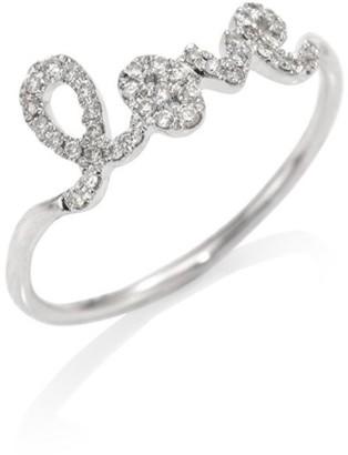 Sydney Evan Love Diamond & 14K White Gold Ring