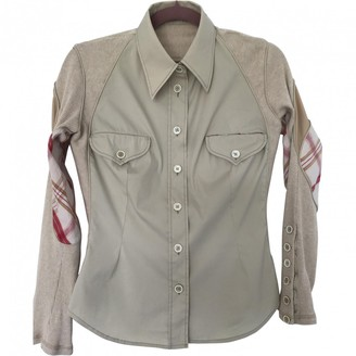 Alexander McQueen Beige Cotton Top for Women Vintage