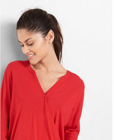 Express long sleeve surplice blouse