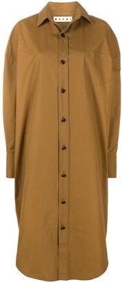 Marni Oversized Midi Shirt Dress