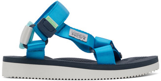 Suicoke Blue and Navy DEPA-CAB Sandals
