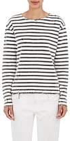 R 13 Women's Breton Distressed Knit Cotton Top