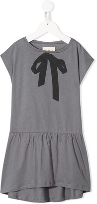 Douuod Kids printed bow T-shirt dress