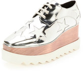 Stella McCartney Elyse Stars Faux-Leather Platform Oxford, Indium/White