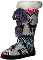 Muk Luks Women's Grace Grey/Pink Slipper