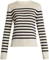 Saint Laurent Striped long-sleeved cashmere-knit sweater
