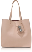 Carven Flore Large Nude Leather Tote Bag
