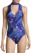 We Are Handsome Tropical One-Piece Swimsuit