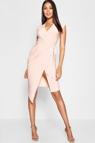 boohoo Alice Wrap Front Midi Dress