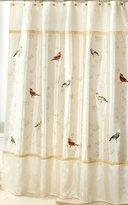Avanti Linens Gilded Birds Shower Curtain, Ivory