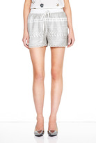 Lacey Leather Laser Cut Drawstring Shorts