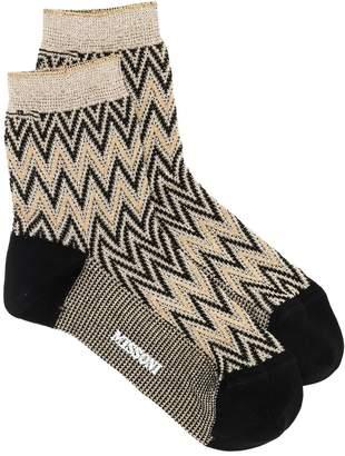 Missoni herringbone pattern socks