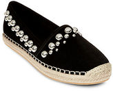 Brian Atwood Eli Suede Espadrille Flats
