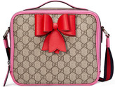 Gucci Children's GG Supreme bow messenger