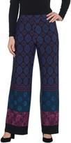 Susan Graver Petite Printed Liquid Knit Wide-Leg Pants