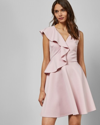 Ted Baker LANTAA Ruffle detail skater dress