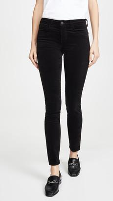 L'Agence Marguerite Velvet High Rise Skinny Pants