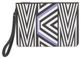 MCM Mcmxtobias Rehberger Geometric Coated Canvas Pouch - Purple