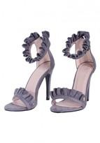 AX Paris Grey Ruffle Detail Stilletto Heels