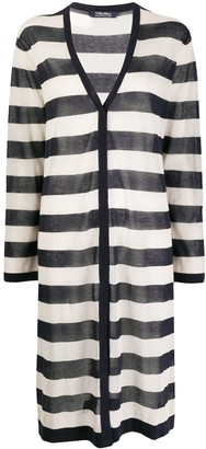 Max Mara Horizontal-Stripe Cardi-Coat