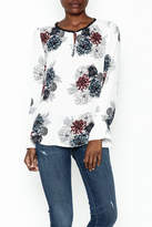Daniel Rainn Floral Long Sleeve Top