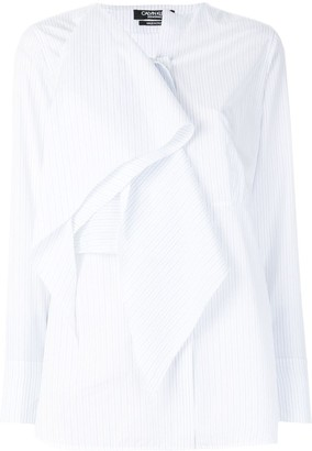 Calvin Klein Ruffle Front Blouse