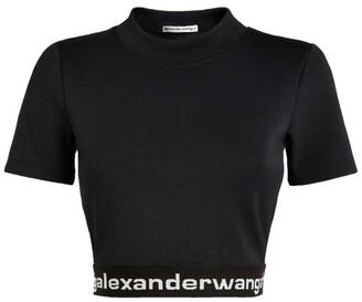 Alexander Wang Logo Crop Top