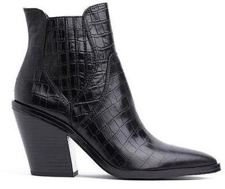 Rebecca Minkoff Sabana Too Croco Boot Black
