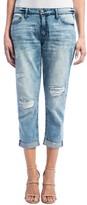 Liverpool Jeans Company Women's Cameron Stretch Crop Boyfriend Jeans