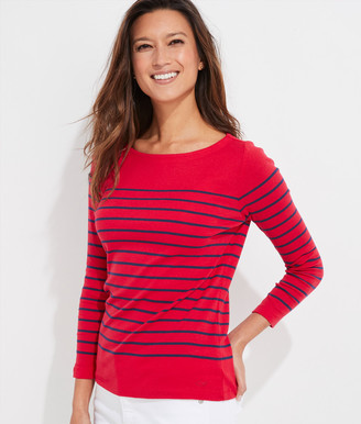 Vineyard Vines Sailor Stripe Simple Boatneck Tee