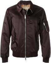 Burberry point collar bomber jacket