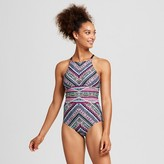 Women's High Neck Strappy Back One Piece - Mossimo