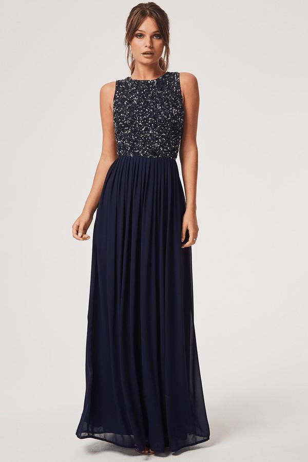 a8234769ac7 Little Mistress Embellished Dress Navy - ShopStyle UK