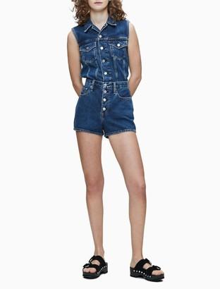 Calvin Klein Mid Blue Denim Sleeveless Vest