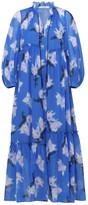 Schumacher Dorothee Energetic Mix Dress in Blue Blurry Flora
