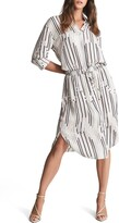 Thumbnail for your product : Reiss Erika Stripe Long Sleeve Shirtdress