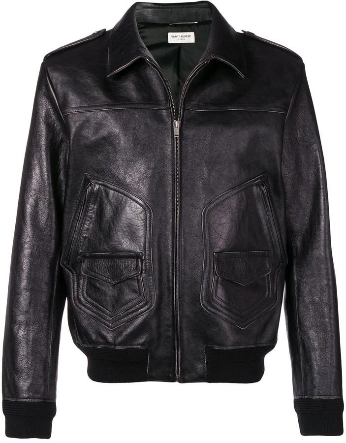 87e905e11b8 Saints Leather Jackets Men - ShopStyle