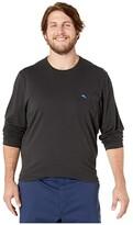 Tommy Bahama Big Tall New Bali Skyline Long Sleeve T-Shirt (Black) Men's Clothing