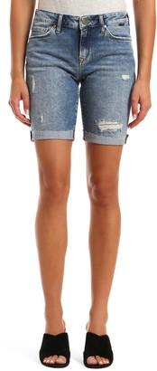 Mavi Jeans Alexis Raw Hem Denim Bermuda Shorts