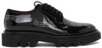 Givenchy Black Patent Combat Derbys