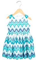Helena Girls' Patterned A-Line Dress
