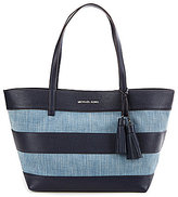 MICHAEL Michael Kors Denim Large East/West Tote