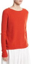 Vince Ribbed Raglan Cashmere Sweater, Orange