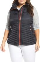 Vince Camuto Plus Size Women's Contrast Trim Quilted Vest
