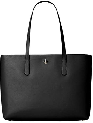 Kate Spade Molly Large Zip Top Work Tote (Black) Handbags