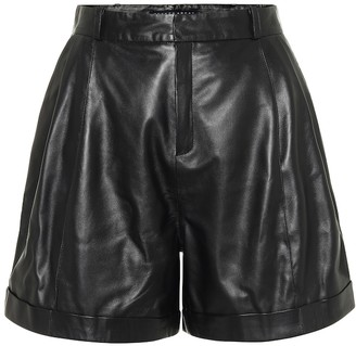 ZEYNEP ARCAY High-rise pleated leather shorts