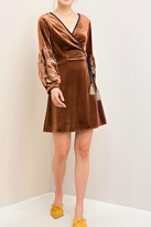 Entro Brown Embroidered Dress