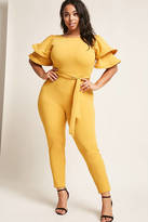 Forever 21 FOREVER 21+ Plus Size Ruffle Sleeve Jumpsuit